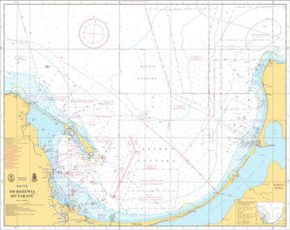 Map of Gulf of Gdansk, Hydrographic Office of the Polish Navy