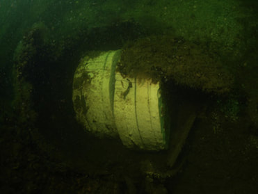 Naval WWII mine leftovers with TNT